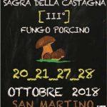Sagra della castagna e del fungo porcino 2018 San Martino al Cimino (VT)