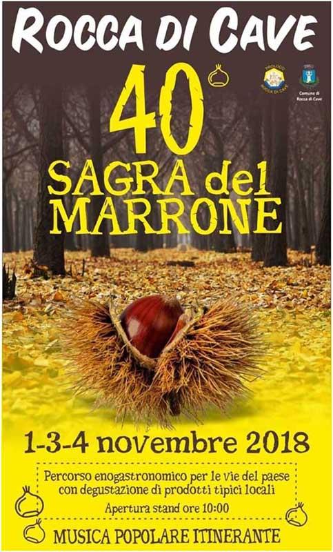 Sagra del marrone 2018 Rocca di Cave (RM)