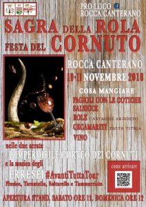 Sagra della rola e festa del cornuto 2018 Rocca Canterano (RM)