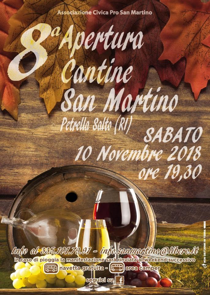 nel paese di San Martino c'è la festa del vino novello per San Martino
