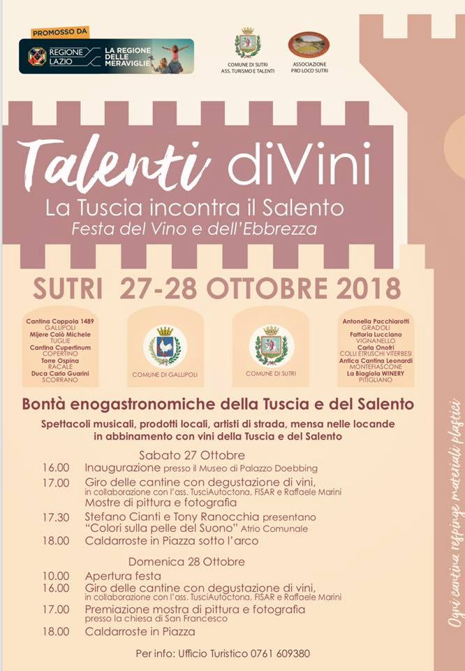 Talenti diVini 2018 - La festa del vino di Sutri