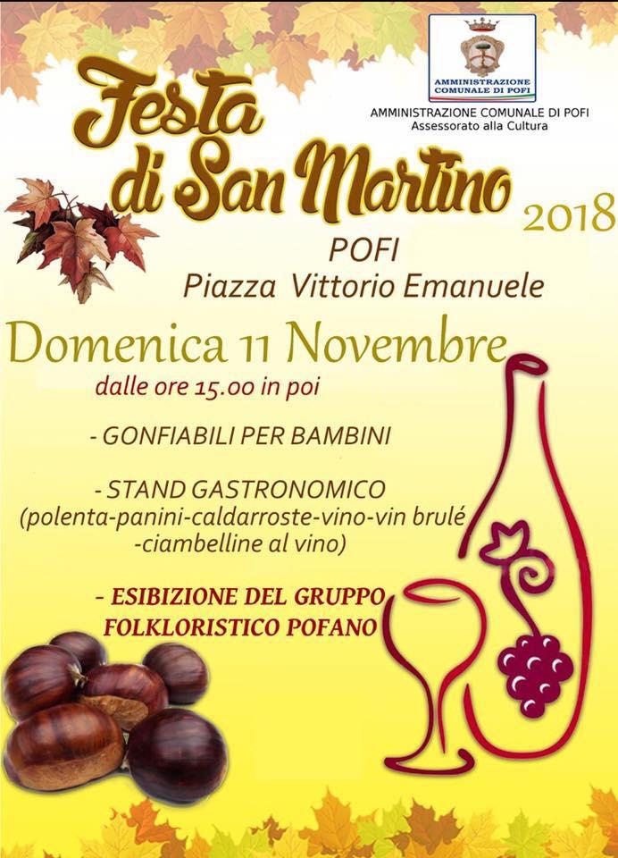 Festa di San Martino 2018 Pofi (FR)