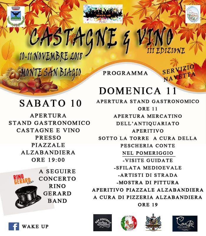 festa delle castagne e del vino Monte San Biagio 2018