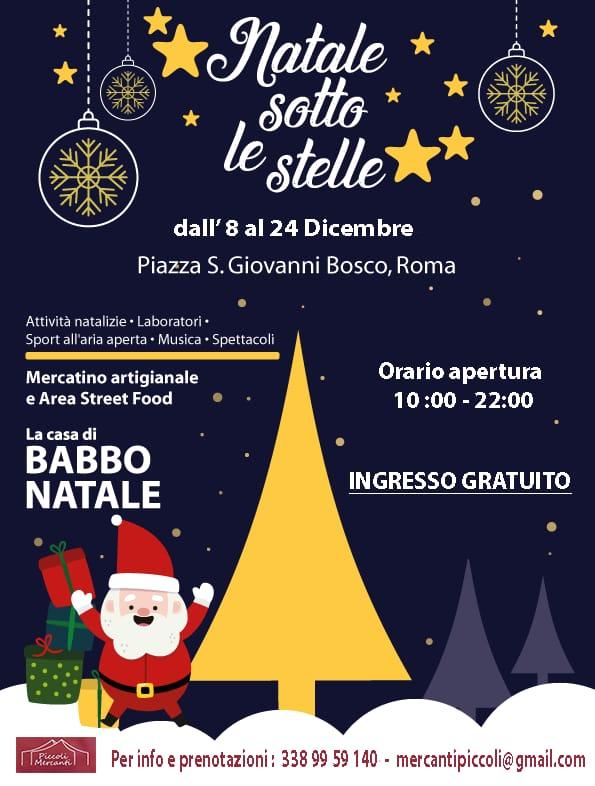 mercatini di Natale a piazza San Giovanni bosco a Roma 2018