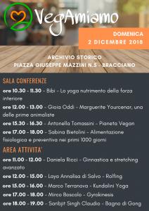 il programma di Vegamiamo di domenica 2 dicembre 2018