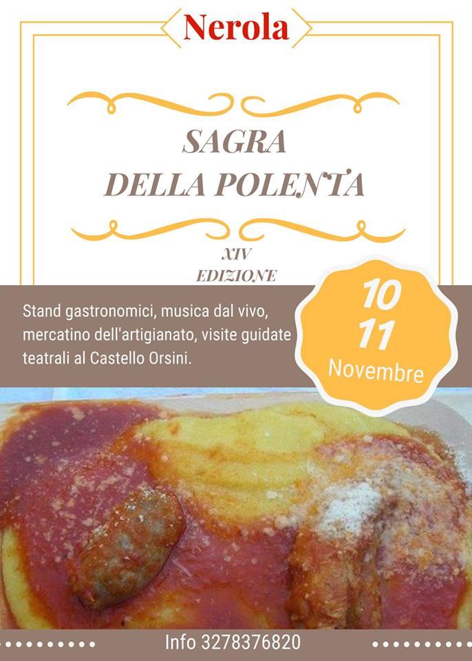 sagra della polenta Nerola 2018
