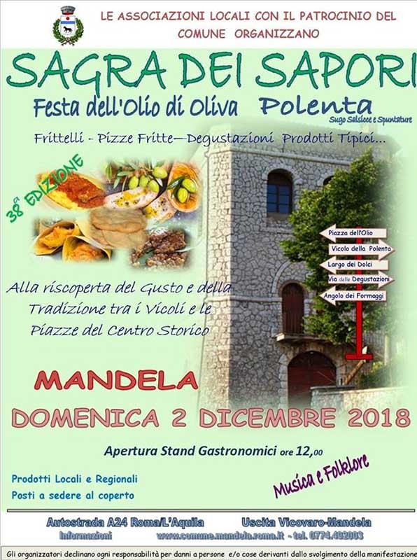 sagra dell'olio d'oliva e della polenta Mandela 2018
