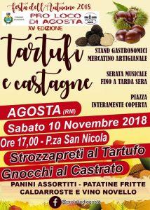 Tartufi e Castagne: festa d'autunno 2018 Agosta (RM)