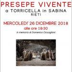 presepe vivente Torricella 26 dicembre 2018