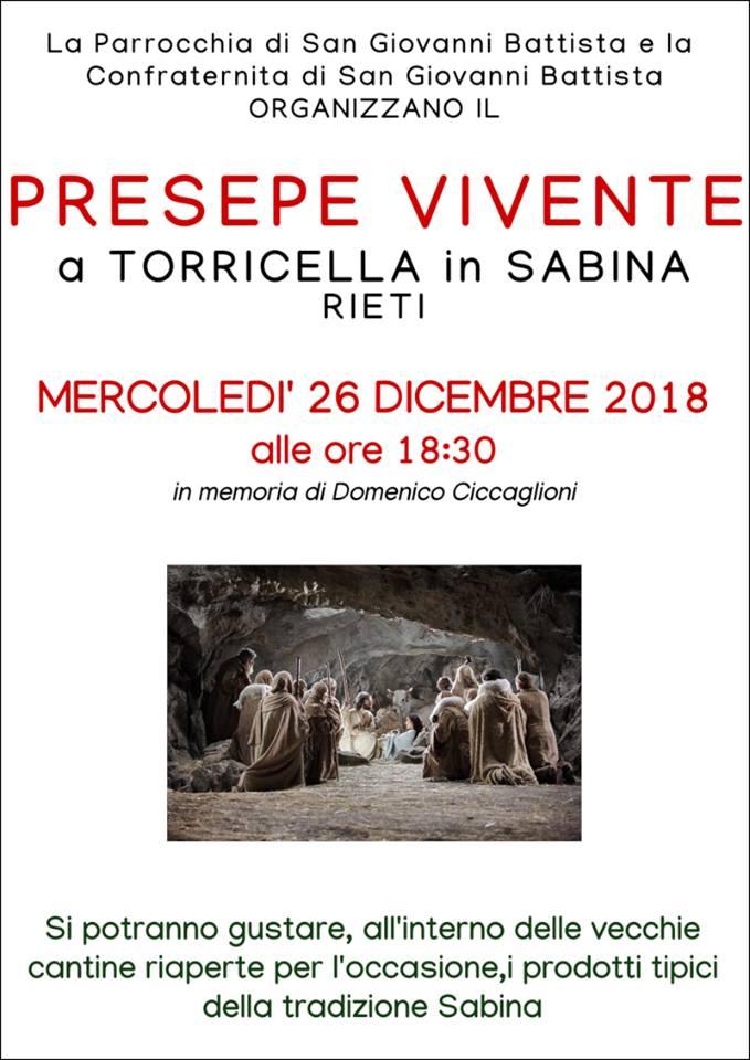 Presepe Vivente a Torricella in Sabina: Natale 2018