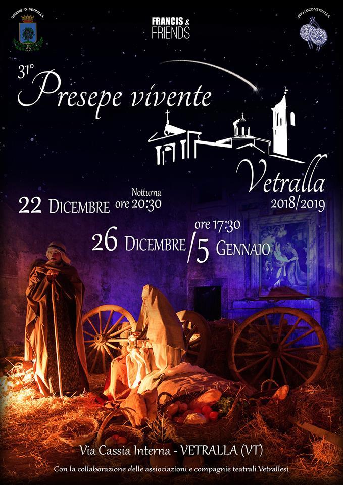 Presepe vivente di Vetralla (VT): Natale 2018