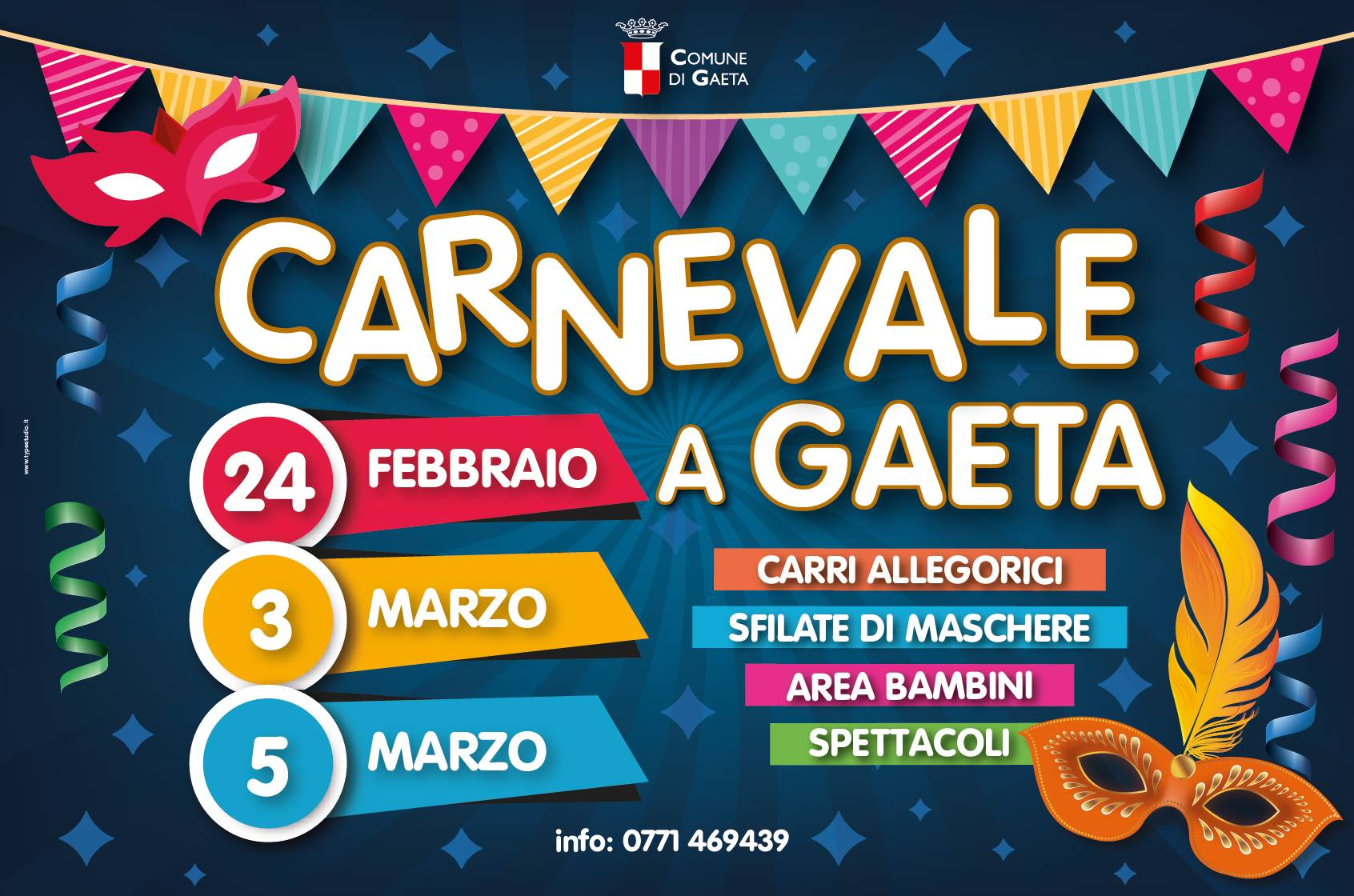 programma del carnevale di Gaeta 2019