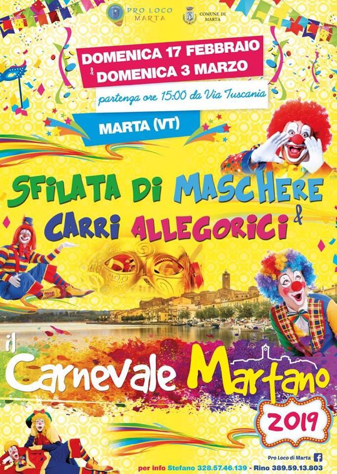 festa di carnevale 2019 a Marta (VT)