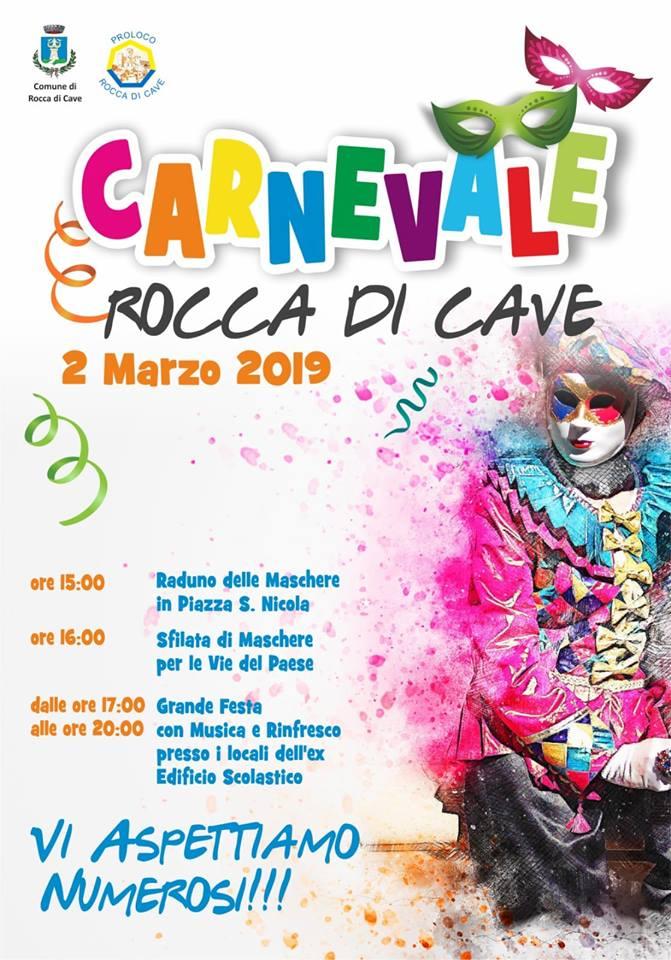 Festa di Carnevale 2019 Rocca di Cave (RM)