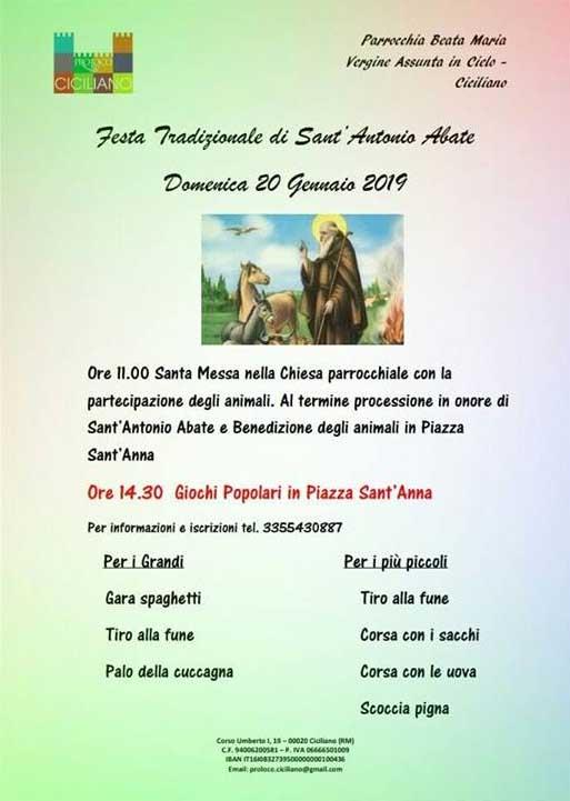 Festa di Sant'Antonio Ciciliano 2019