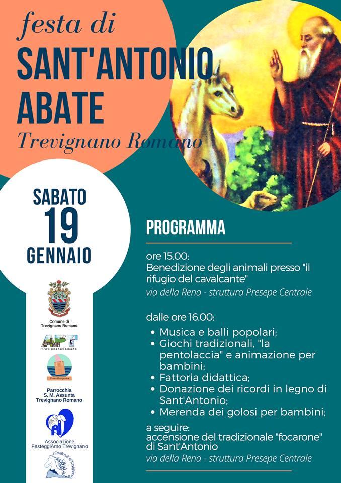 programma della festa di Sant'Antonio Trevignano Romano 2019