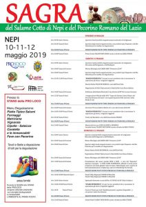 il programma della festa del salame cotto Nepi 2019