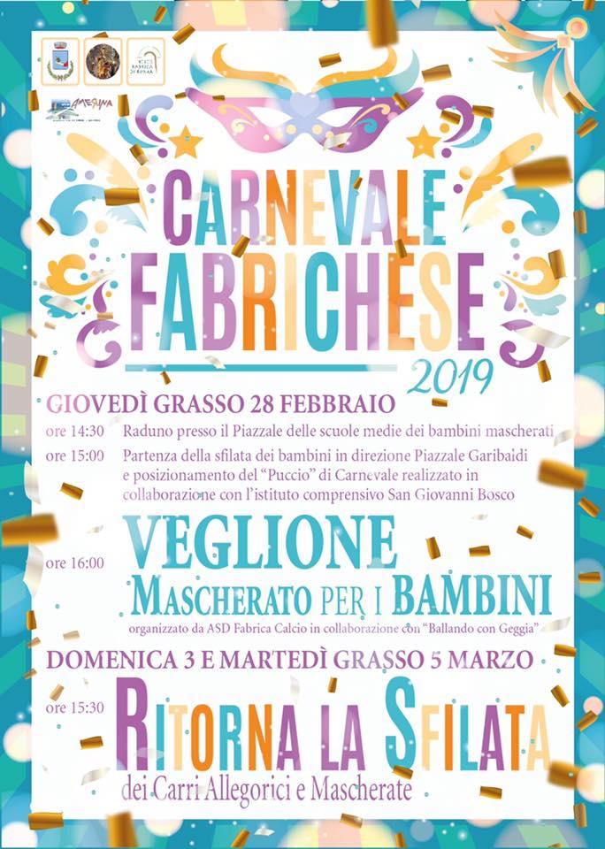 Carnevale Fabrica di Roma 2019