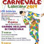 programma carnevale Labico 2019