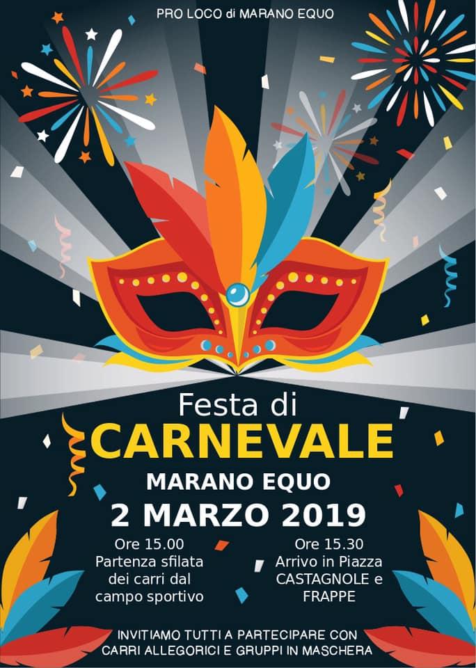 Festa di carnevale Carnevale Marano Equo 2019