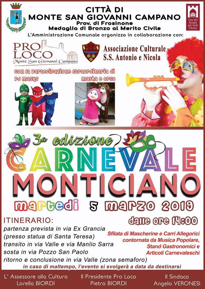 carnevale Monte San Giovanni Campano 2019