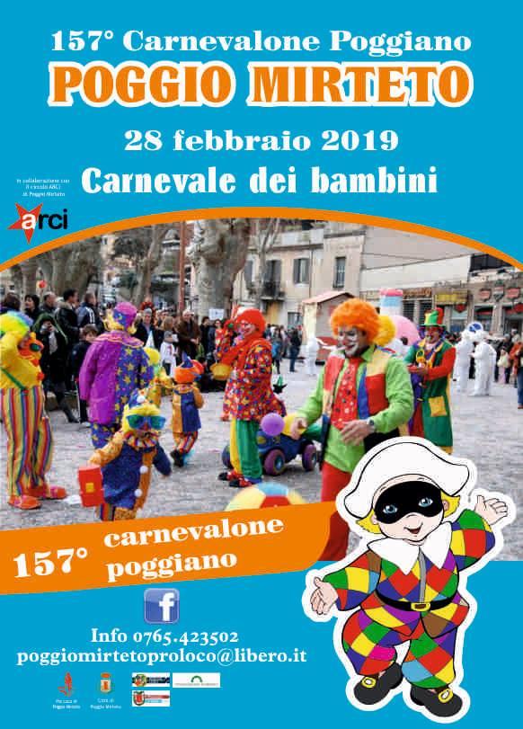 festa di carnevale a Poggio Mirteto 2019
