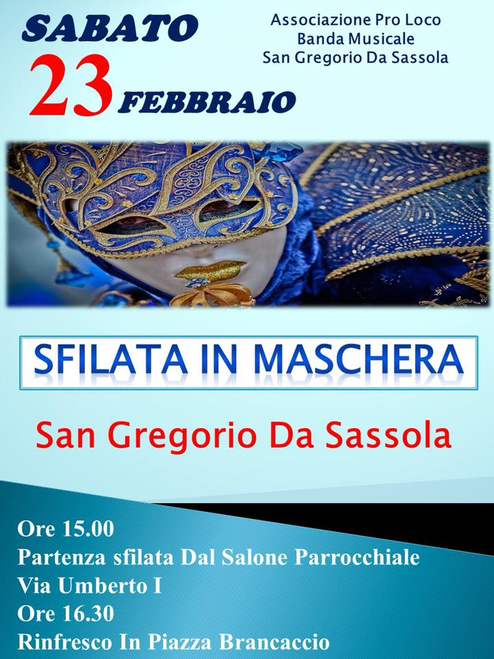 Carnevale 2019 San Gregorio da Sassola (RM)