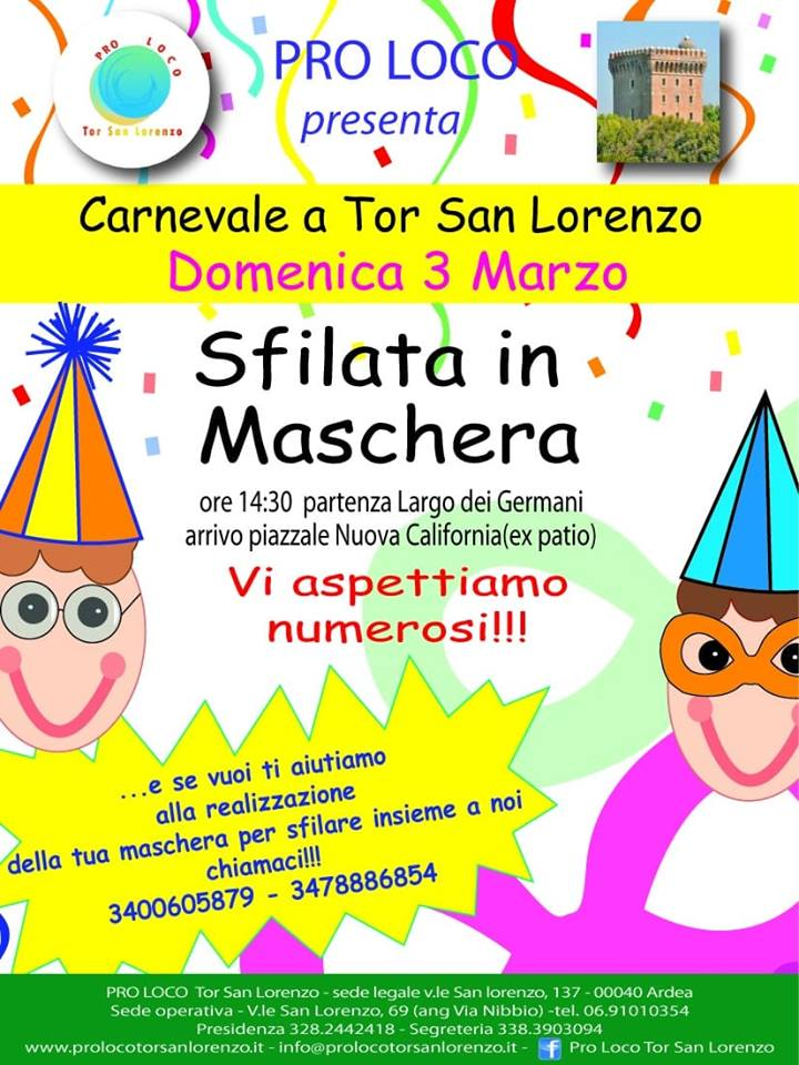 Carnevale Tor San Lorenzo (Ardea) 2019