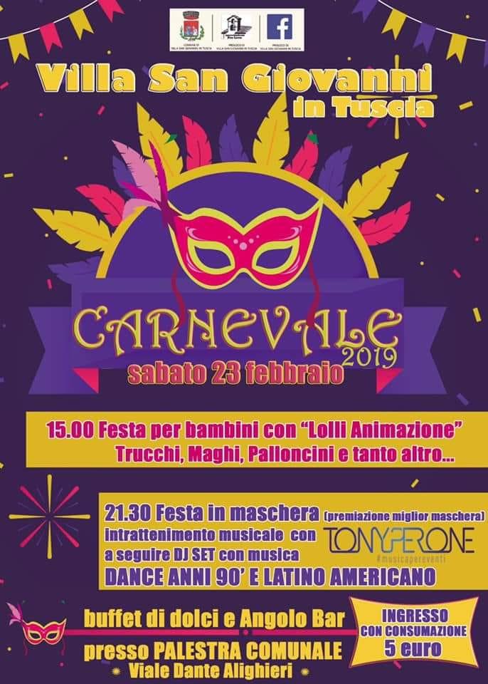 programma Carnevale Villa San Giovanni in Tuscia 2019
