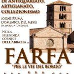Fiera mensile dell'antiquariato abbazia di Farfa
