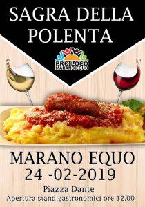 Sagra della polenta 2019 Marano Equo (RM)