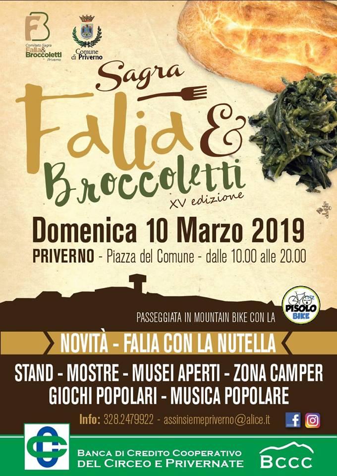 sagra falia e broccoletti Priverno 2019