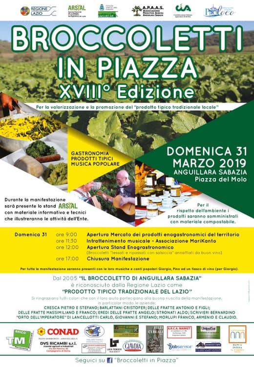 festa del broccoletto Anguillara Sabazia 2019