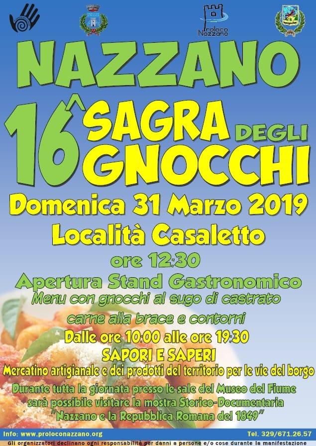 Sagra degli gnocchi 2019 Nazzano (RM)