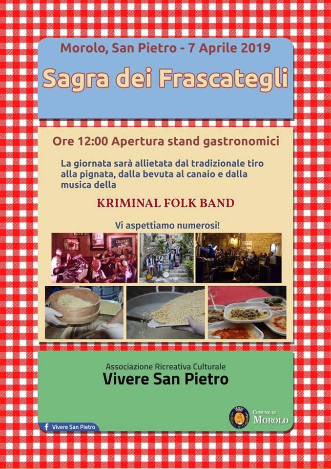 Sagra dei Frascategli 2019 Morolo (FR)