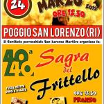 Sagra del frittello Poggio San Lorenzo 2019