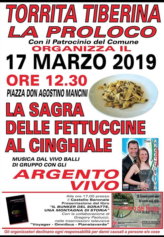 Sagra delle fettuccine al cinghiale 2019 Torrita Tiberina (RM)