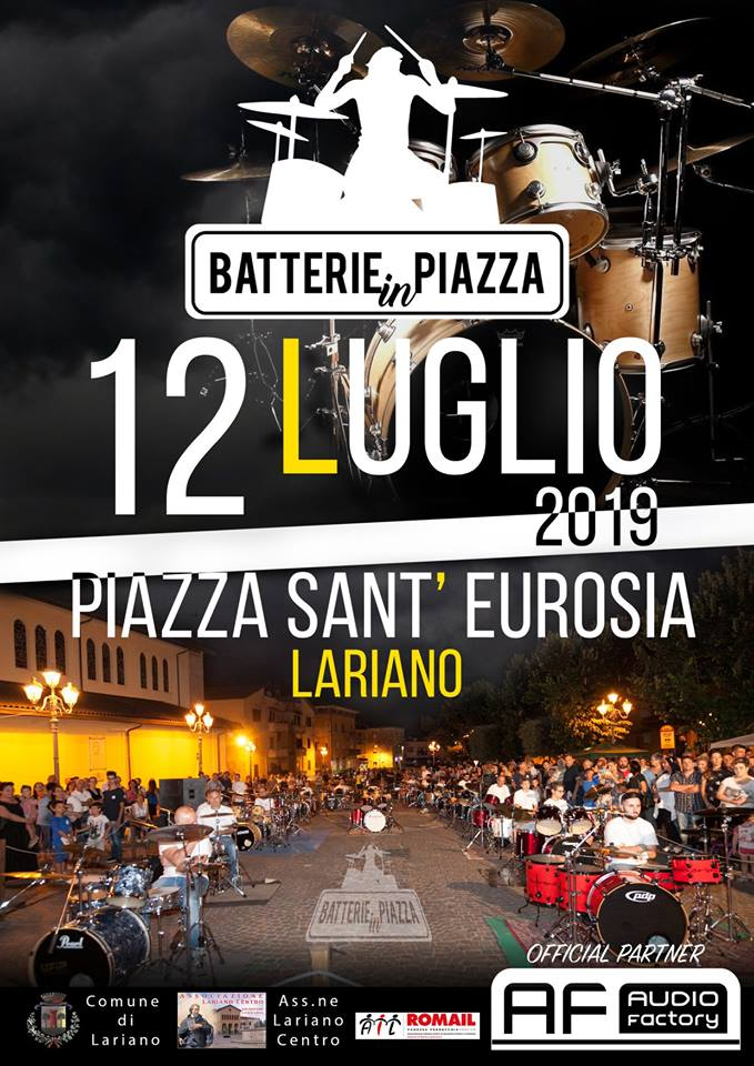 Batterie in piazza Lariano 2019