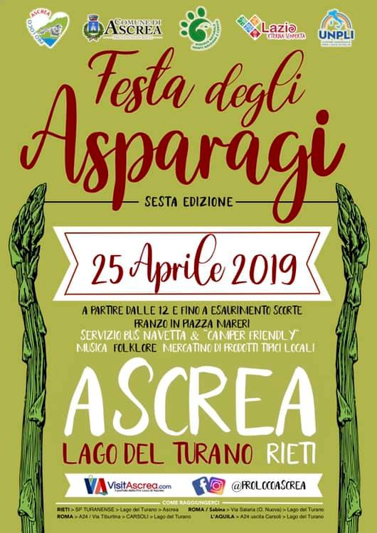 Festa degli asparagi Ascrea 2019