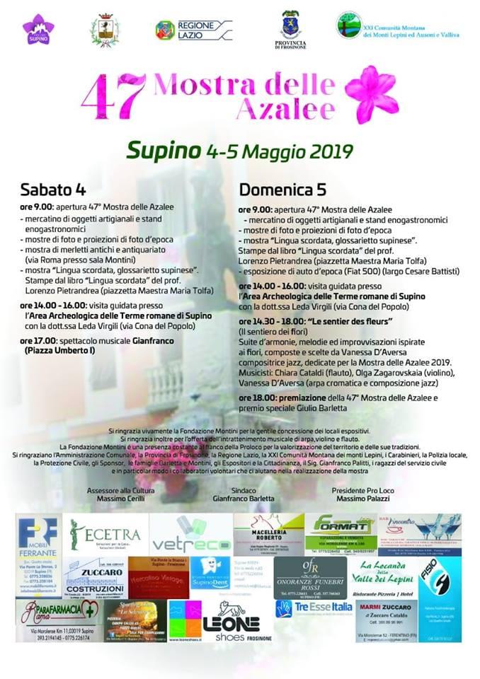 Mostra delle azalee 2019 Supino (FR)