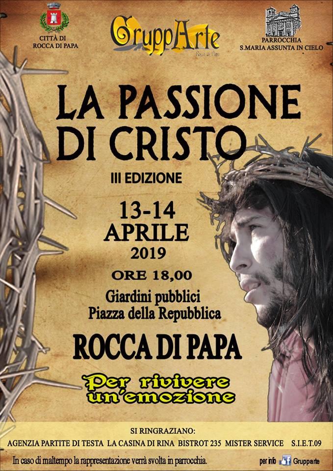 la passione di cristo vivente Rocca di Papa 2019
