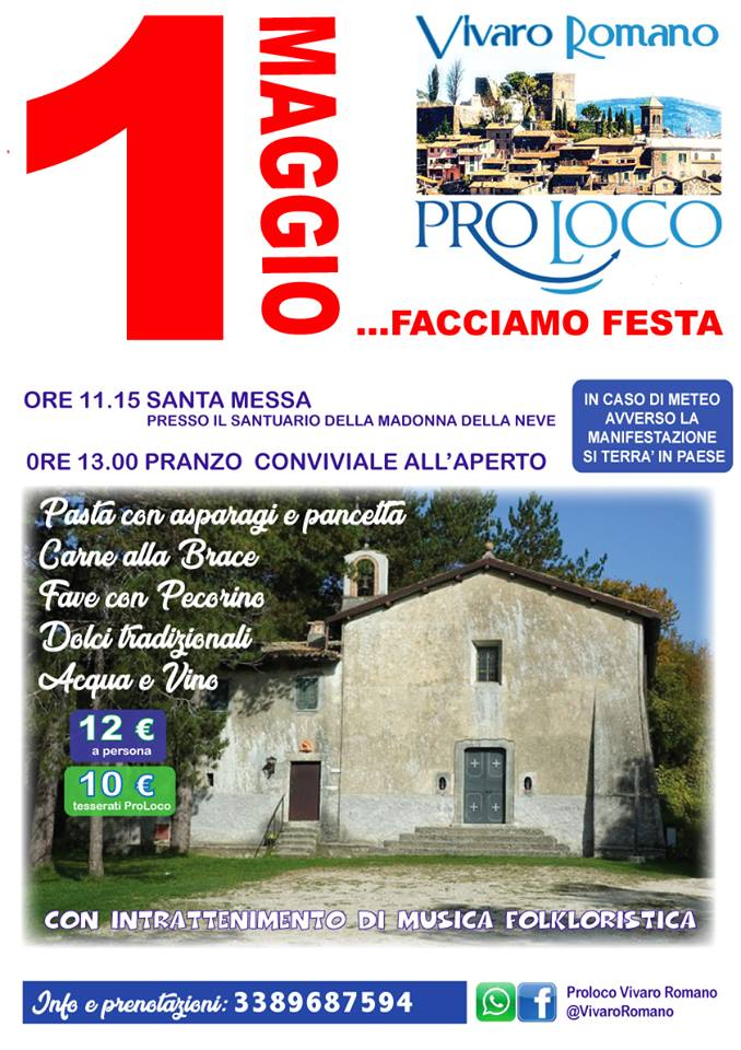 Primo Maggio Vivaro Romano 2019