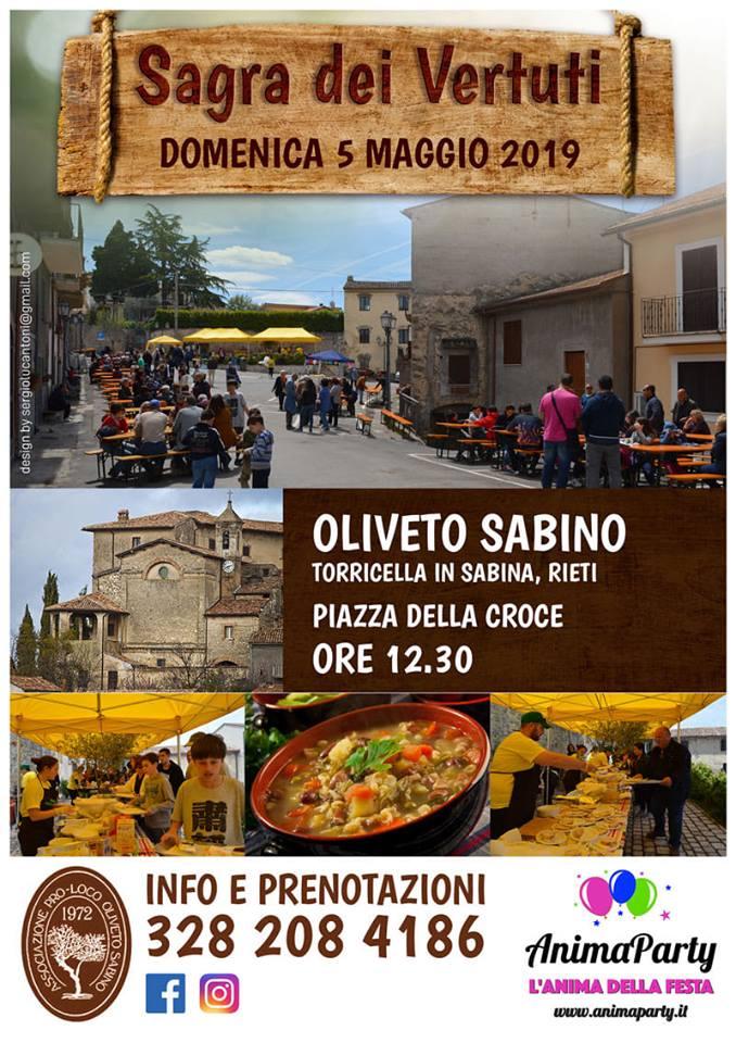 Sagra dei vertuti Oliveto Romano 2019