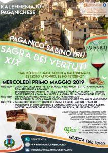 sagra dei vertuti Paganico Sabino 2019