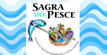 locandina della sagra del pesce Fiumicino 2019