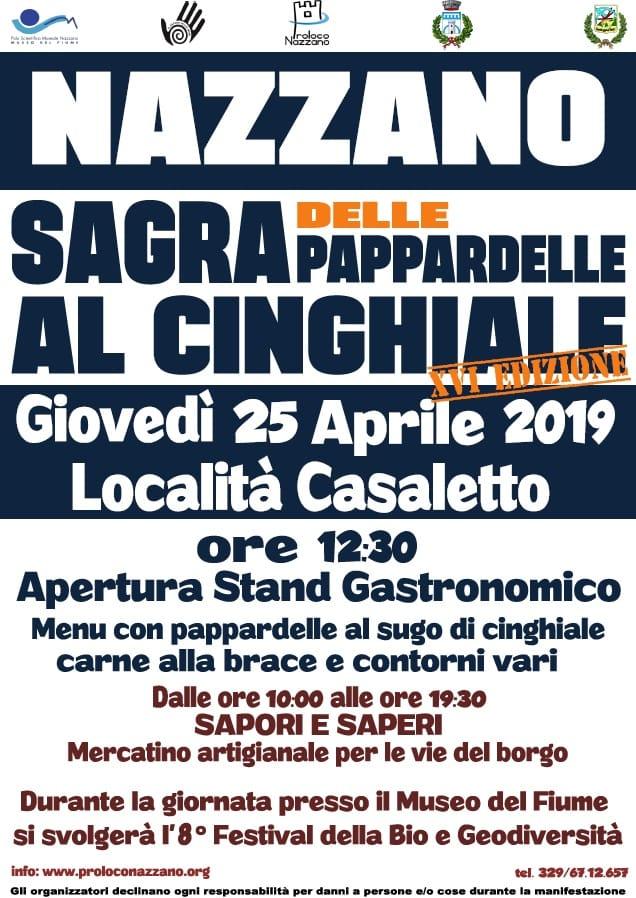 Sagra delle pappardelle al cinghiale 2019 Nazzano Romano (RM)