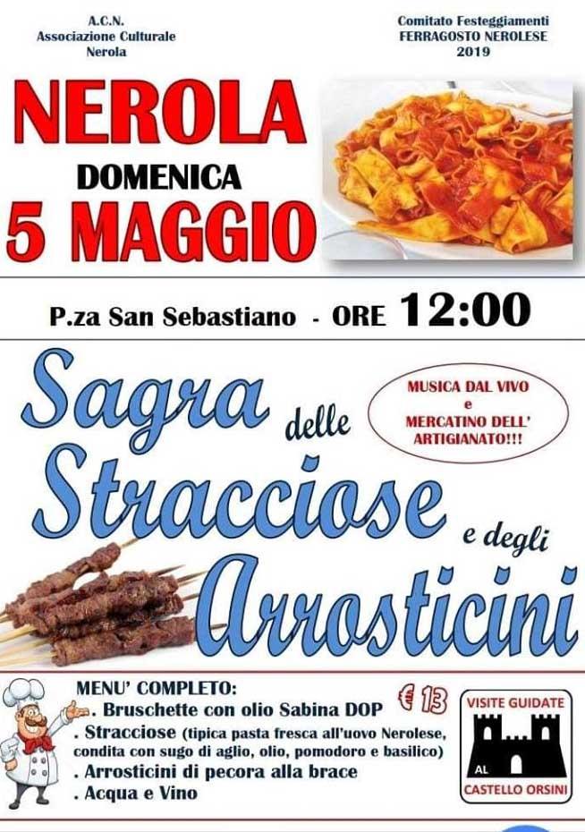 Sagra delle stracciose e degli arrosticini 2019 Nerola (RM)