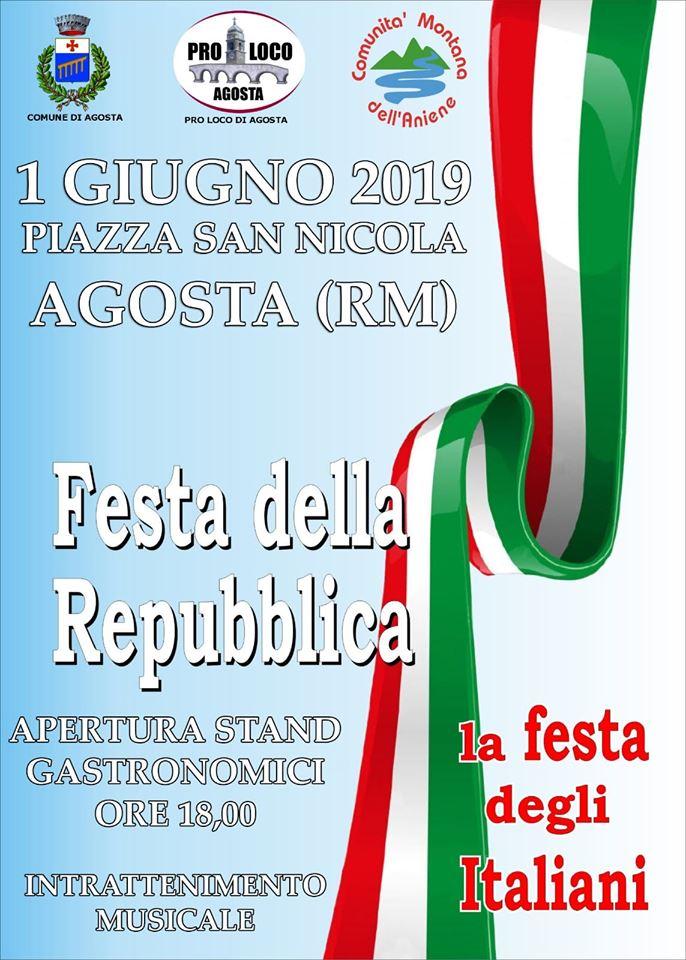 Festa della Repubblica Agosta 2019