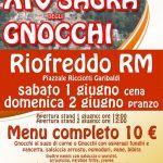 programma della sagra delgi gnocchi di Riofreddo 2019