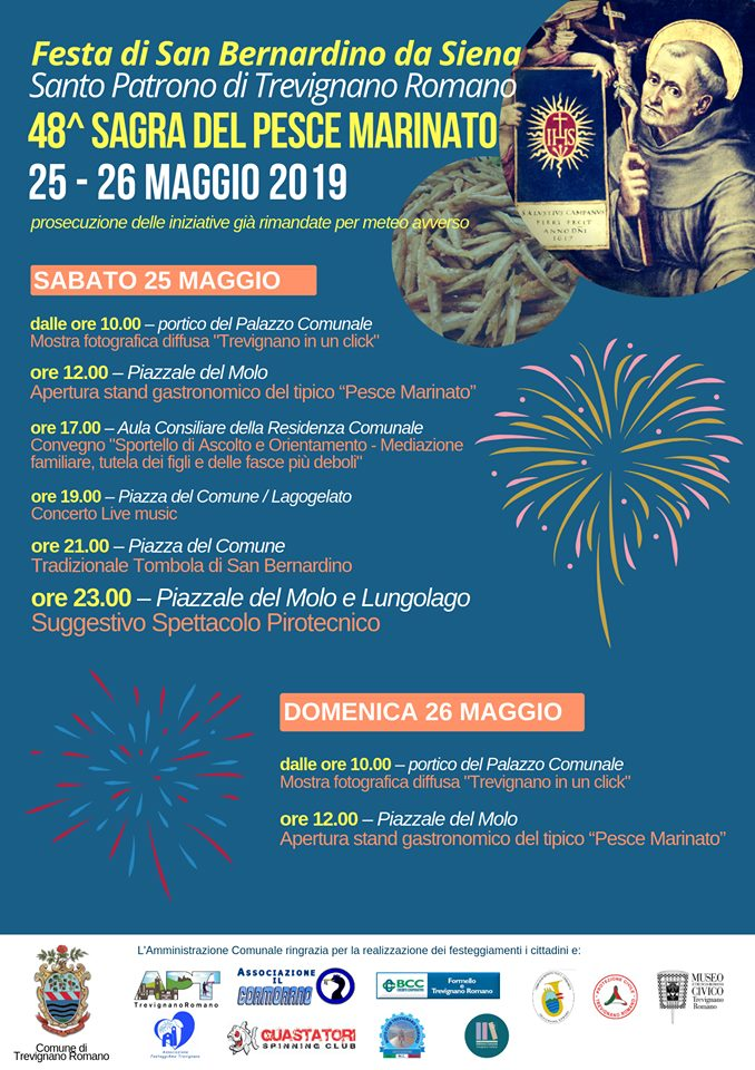 Festa di San Bernardino e Sagra del pesce marinato Trevignano Romano 2019